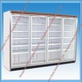 Refrigerador vertical de la visualización con dos puertas