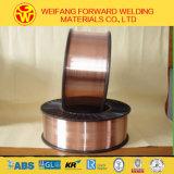 0.8mm 5kg/D200の二酸化炭素のガスの盾が付いているプラスチックスプールEr70s-6の溶接ワイヤのミグ溶接ワイヤー