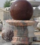 Фонтан воды скульптуры естественного камня гранита шарика сада напольный