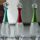 Frasco de vidro cosmético de vidro luxuoso de frasco do frasco de perfume