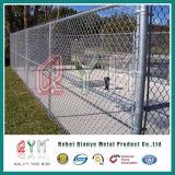 Panneau de frontière de sécurité de maillon de chaîne de Galvianzed/panneaux plongés chauds de frontière de sécurité de maillon de chaîne