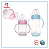 Bottiglia di alimentazione infantile larga del sensore del collo con la base