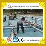 Fontaine d'eau de piscine avec des gicleurs d'acier inoxydable
