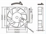 ventilador axial da C.C. 4510 de 45X45X10mm mini