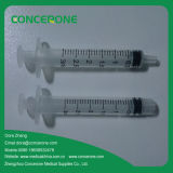 Seringue médicale jetable de 3 ml / cc avec ce ISO approuvé