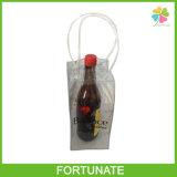 Le sac de glace en plastique promotionnel pour le plastique de vin portent le sac