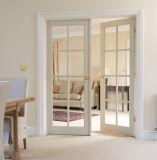 Porte coulissante en bois glacée pour la salle de séjour