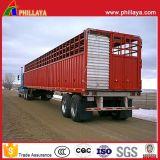 De carbón del acero del ganado de animales del transporte acoplado del caballo del ganado del carro semi