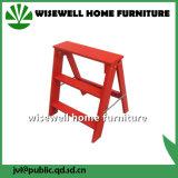 2つのステップマツ木折りたたみ梯子の椅子