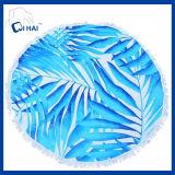 100%年の綿の風景画の円形のビーチタオル(QQE554)
