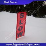 Drapeau fait sur commande de tissu de maille de la publicité extérieure, drapeau de maille d'enveloppe de frontière de sécurité