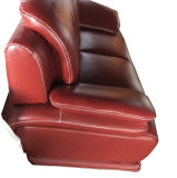 Sofa en cuir noir, sofa moderne, sofa de salle de séjour (B. 939)