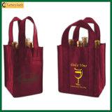 Оптовый мешок вина Tote бутылок полиэфира 9 (TP-WB063)