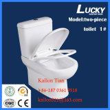 1# toletta di ceramica del Wc Washdown a due pezzi/separano in articoli sanitari della stanza da bagno