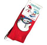 雪の人デザインの綿のクリスマスのソックス