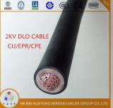 UL44 ha inscatolato cavo di rame/di gomma 2000V di /Rubber Dlo /Rhw-2