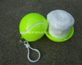 Nach Maß Großhandelsfirmenzeichen PET Emergency Wegwerfregen-Poncho mit Kugel