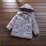 Rivestimento Button-Down del cotone del ragazzo per i vestiti dei bambini