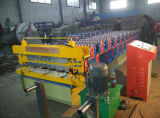 Doppelte Schicht-Stahlfliese-Rolle, die Maschine für Dach-Blatt-Panel bildet