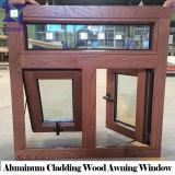 アルミニウムクラッディングの日除けデザインの固体木のWindows、3D木製の穀物アルミニウム上のハングさせたWindows