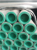 Tubo de acero galvanizado de la INMERSIÓN caliente con los casquillos del extremo roscado y del plástico