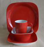 Stoneware cerâmico Coffee Cup e Saucer, Dinner Set