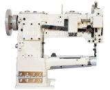 Máquina de costura do coxim da alimentação do uníssono da base do cilindro para a roupa da sapata de couro