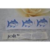 Etiqueta impressa fonte do algodão da fábrica para a tela do vestuário