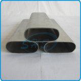 El plano de acero inoxidable de AISI 304 echó a un lado tubo oval