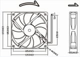 12V 24V 48V 120mm 12cmx12cm gelijkstroom Fan 120X120X25mm Cooling Fan