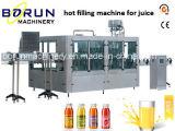 Máquina de enchimento do suco com Sterilizer em linha do tampão