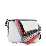 Designer Stripe Têxtil Cinto Crossbody Bag Tassel PU Shoulder Bag