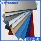 Baumaterialien PVDF PET Aluminiumzusammensetzung täfelt Acm für Wand-Umhüllung