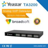32 entrada análoga de VoIP FXS de la entrada ATA del SORBO del puerto de Rj11 FXS