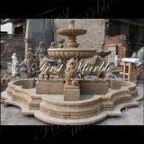 Fontana nera Mf-1152 di Empador afflitta fontana di pietra di marmo del granito