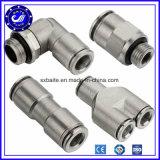 中国の管によって通される空気のエア・ホースの付属品のプラスチック金属PUの空気の付属品