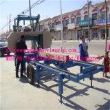 Лесопилка портативного Bandsaw горизонтальная для деревянного вырезывания