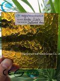 Bernsteinfarbige Kräuselung-gekopiertes Glas mit Cer, ISO (3-8mm)