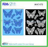 2015 New Design Butterfly Notes Fondant Cake 3D Siliocne Lace Mold