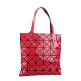 Il Giappone 2016 con i singoli sacchetti di cucitura del sacchetto di spalla di piegatura geometrica grandi/della grata diamante di modo (GB#6X6)