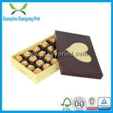 Rectángulo de regalo de empaquetado de papel de lujo de lujo de encargo del caramelo de chocolate