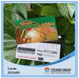 Carte transparente de visite en plastique faite sur commande de PVC de carte de visite professionnelle de visite