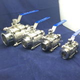 Stainless sanitario Steel Sanitary Encapsulated 3PC Ball Valve