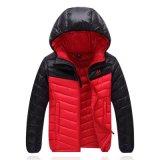 Vestuário para o exterior, Navy Ski Down Fleece Winter Jacket for Man
