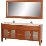 "Daytona 71の"" -浴室ミラーによって…セットされる二重木製の浴室の虚栄心"
