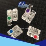 Parentesi di ceramica dello zaffiro materiale ortodontico di estetica con la FDA ISO13485 del Ce