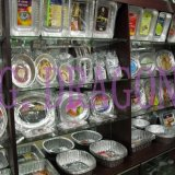 Aluminiumfolie-Teller, Tellersegmente, Behälter mit Kappen (AFC-002)