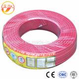 Fio elétrico flexível revestido do PVC do núcleo de cobre