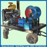 máquina de alta presión de la limpieza del dren de la alcantarilla del motor diesel 200bar