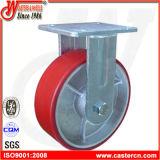 Hochleistungsgesamtverschluss-Schwenker-Polyurethan-Fußrollen-Rad